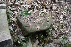 ■境内奥の謎の石